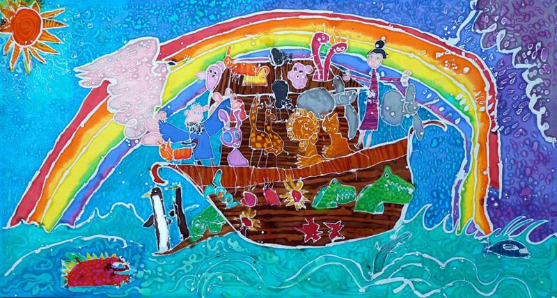 Eekbatik Noah's Ark batik art, batik painting